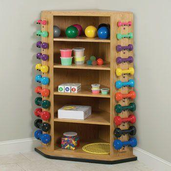 awesome Corner Kiosk - Item 5118 Vangaurd series Corner rac system - Physical Therapy / Exercise Equipment Storage Item# 5118