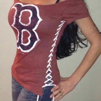 Red Sox custom tee at the Shopping Mall, $49.00 (USD)
