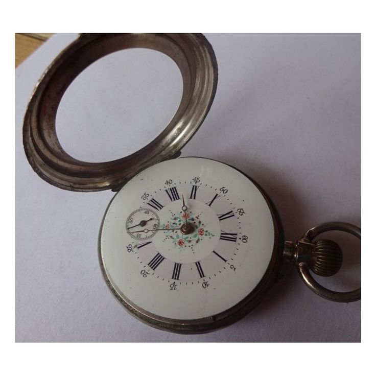 Remontoire - antique pocket Ladies silver watch function, a functional