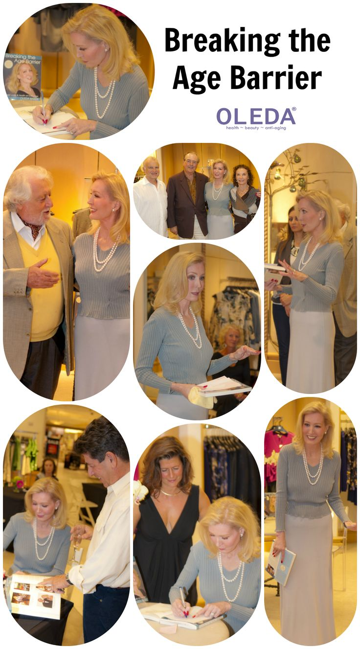 Book Signing in Sarasota, By: CliffRoles  BREAKING THE AGE BARRIER: Great Looks and Health at Every Age  #Oleda #Book #AntiAging #Health #Beauty