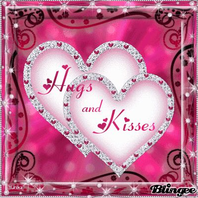"""TWO ❤️'S WITH THE WORDS """" Hugs and Kisses """" ON THEM AND THEY LIGHT UP !!!!"""