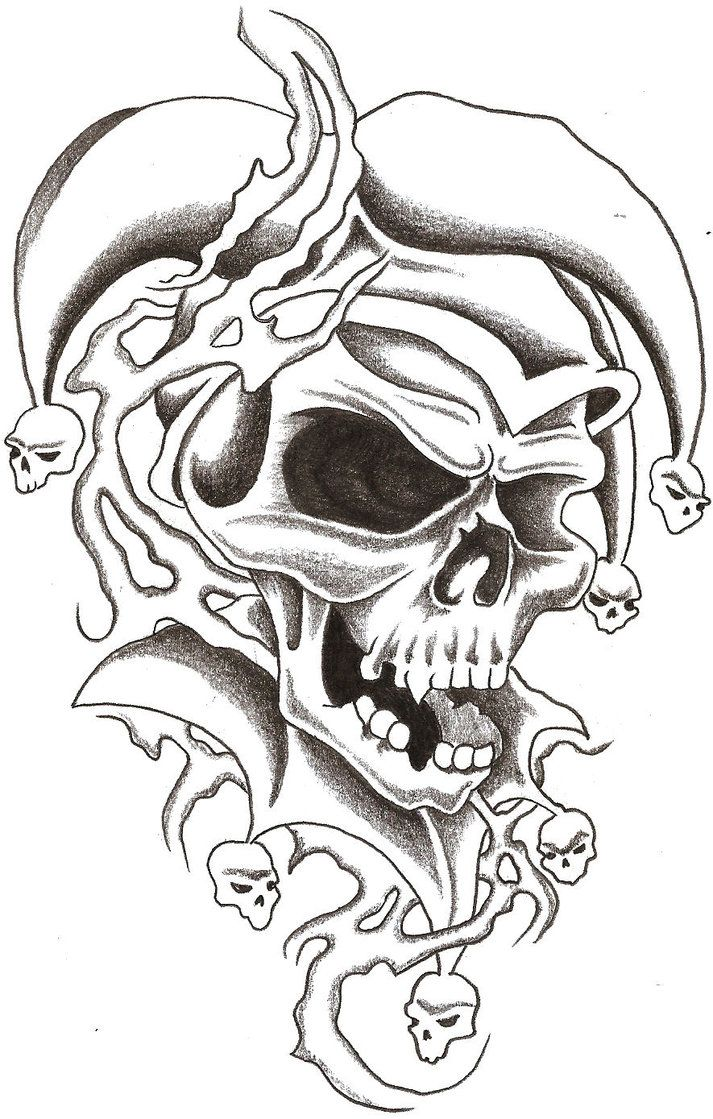 Tattoo design picture - Skull Jester 1 By Thelob On Deviantart