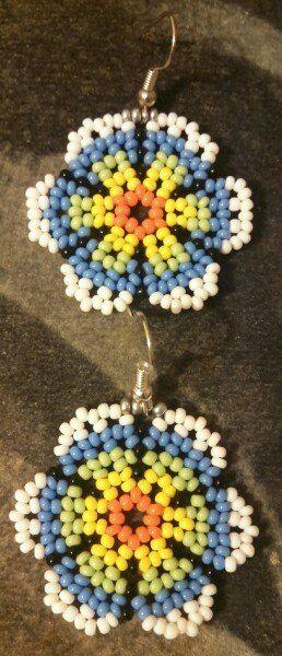 #beads #earrings #huichol