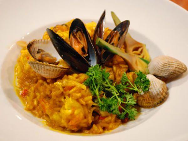 Per Morbergs risotto med skaldjur och saffran