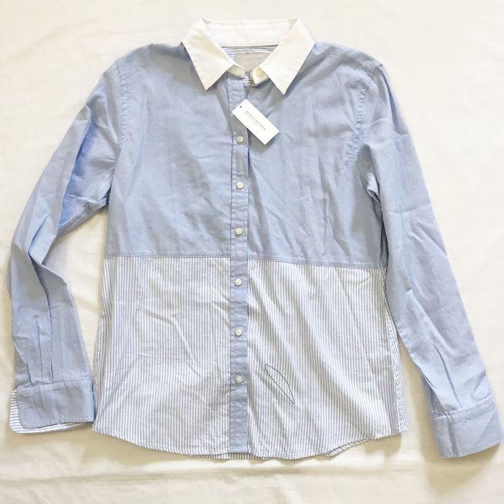 Banana republic Womens sz Large Blue White Striped Button Down Oxford Shirt NWT #BananaRepublic #ButtonDownShirt #eBay #Fashion #Toys #Electronics #pokemon #tie #Clothing #Handbag #shoes #victoriasecret #springbreak #workout #dress #nike #coat #vintage