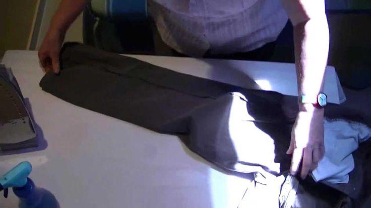 Cómo planchar ropa - Planchando un pantalón ( Pantalones vaqueros )