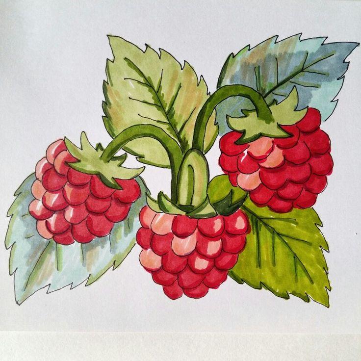 #ягоды #рисунок #маркеры