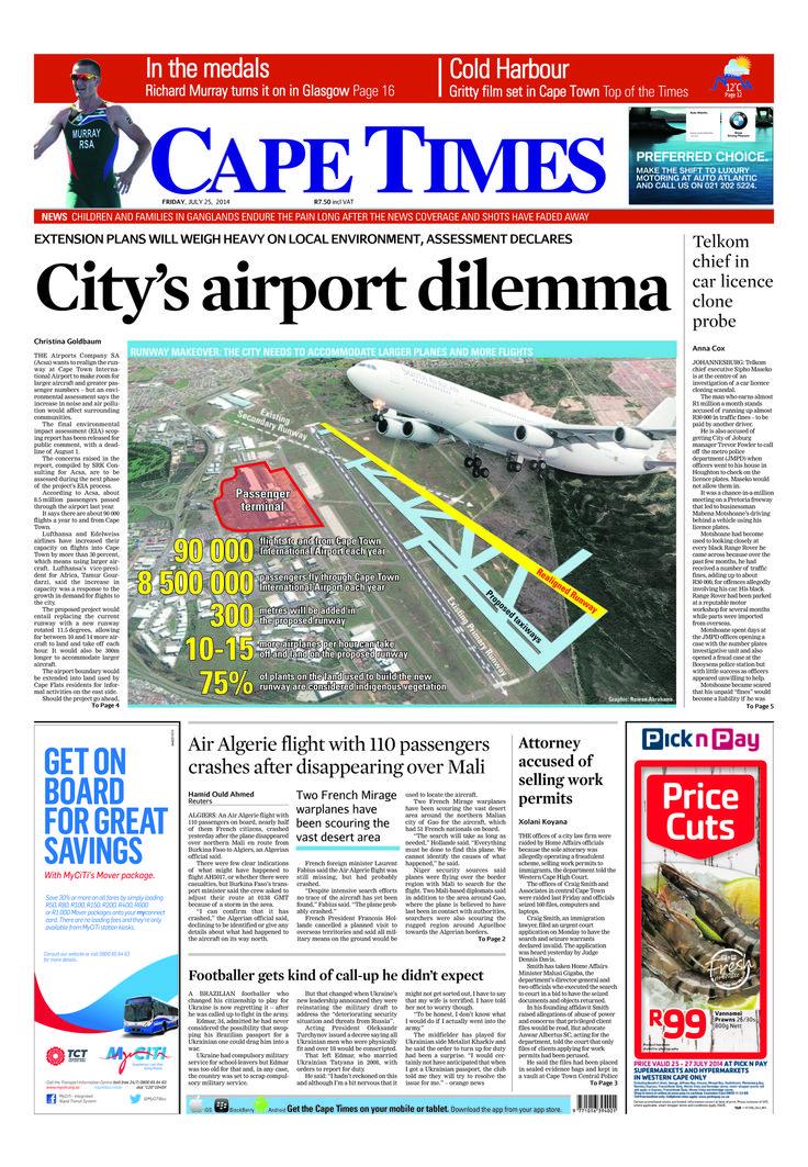 News making headlines: City airport dilemma