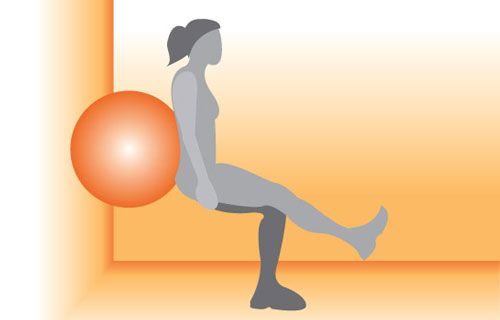 1 Leg Ball Squats - target your butt, thighs, core, and hamstrings in one move!: Fit, Ball Squats, Health Exercise, Wall Exerci, Love Games, Exercise Ball, Legs Strength Exerci, After Workout Snacks, Legs Squats
