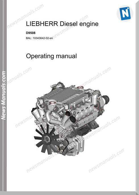 Liebherr D9508 Diesel Engine Operators Manual   Engine