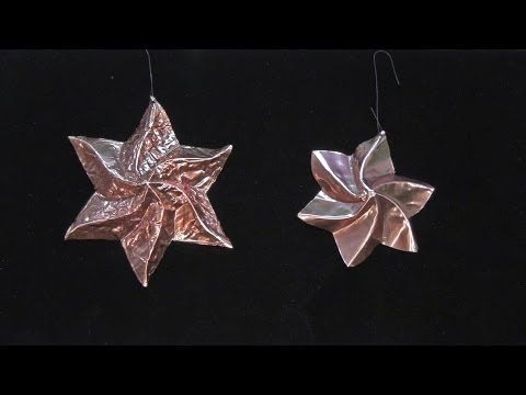 Beautiful Copper Star Holiday Decorations - YouTube