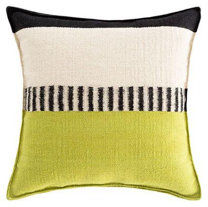Espacio Rustic Chic Geo Pillow - Pistachio 1