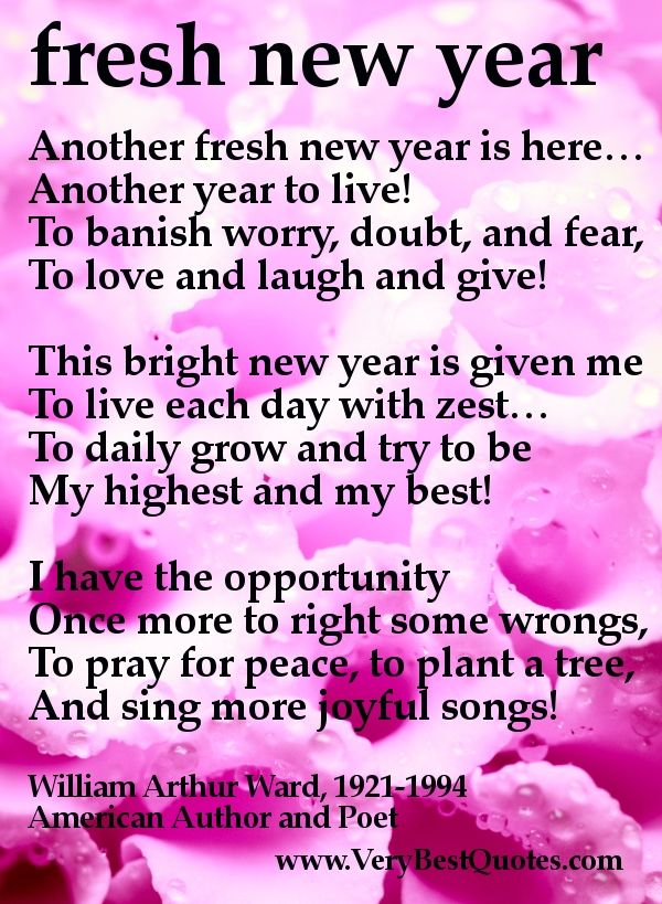 blessings poem inspirational another fresh new year is