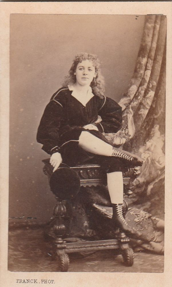 Cdv 1860 c.a. Soprano Marie Joly in posa by Phot. Franck Paris -L5446