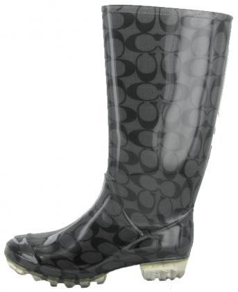 Coach Pixy Womens Rain Boots Wellies Signature Rubber Waterproof | Top Clothing And Shoes From Affliction, Betsey Johnson, Lacoste, Bearpaw, True Religion, Ed Hardy and more