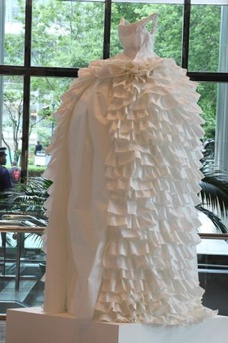 Susan Stockwell paper dress