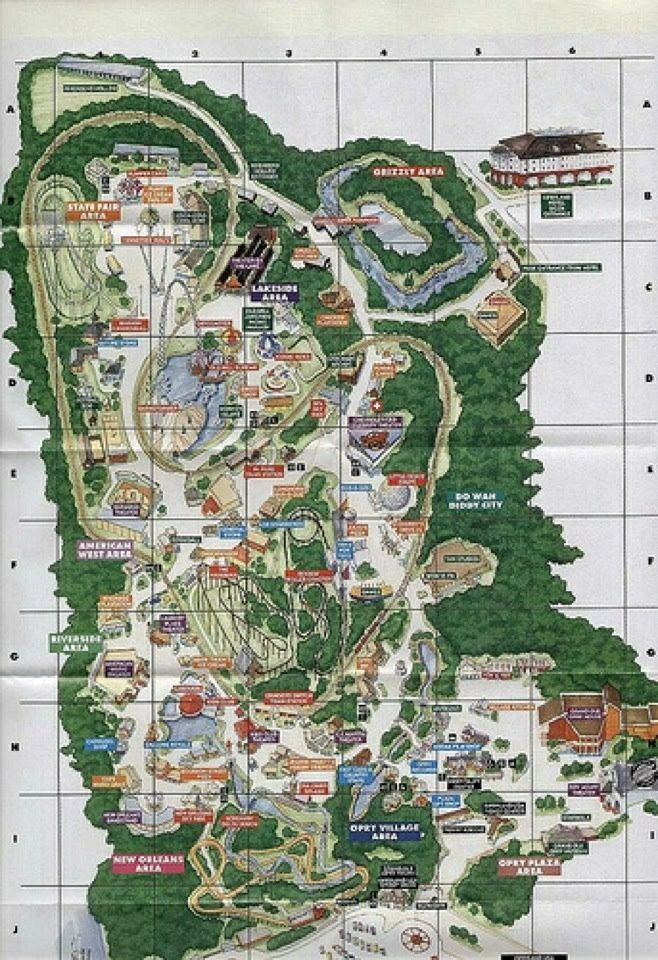 Map of Opryland.