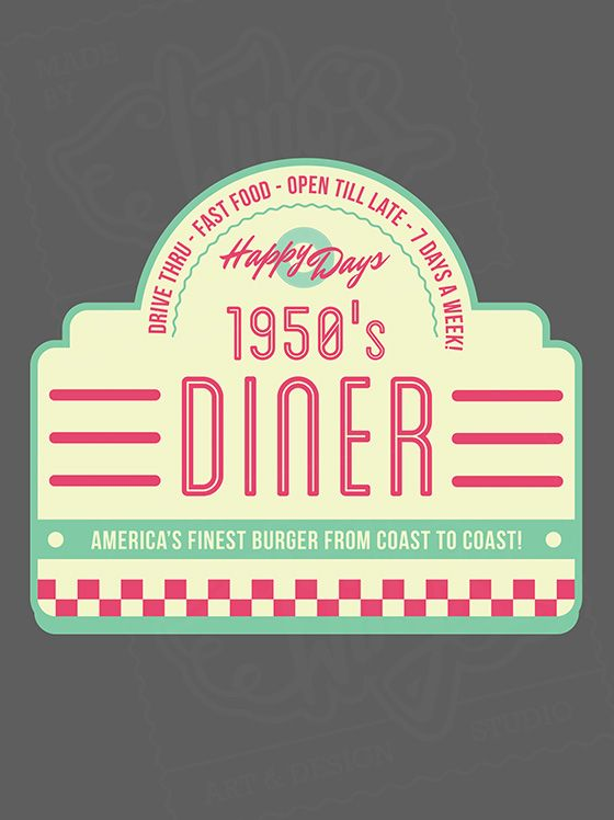 Try this Retro American Diner Logo f absolutely free ...