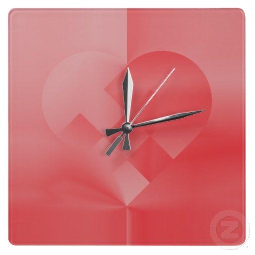 Danish Valentine Heart 71 by Greta Thorsdottir - Wall Clock from Zazzle