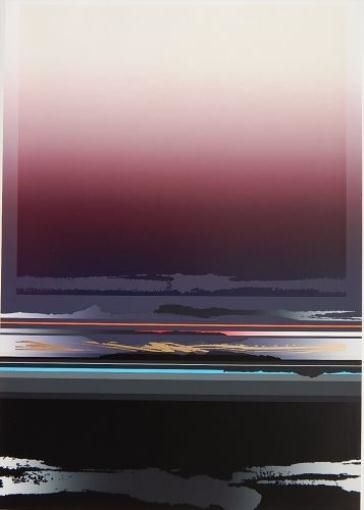 GLOW FLASH By Tetsuro Sawada Dimensions: 24 X 16.25 in (60.96 X 41.28 cm) Medium: silkscreen in colors Creation Date: 1982 Signed Edition Number: 66/150