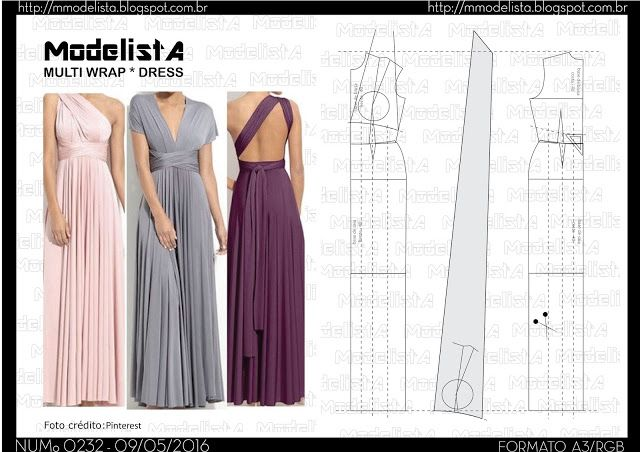 ModelistA: A3 NUMo 0232 MULTIWRAPA3 NUMo 0232 MULTIWRAP Super sexy and trendy, this incredible sleeveless reversible convertible maxi dress. You can wear it so many different ways, deep v halter, wear off either shoulder. The possibilities are endless.