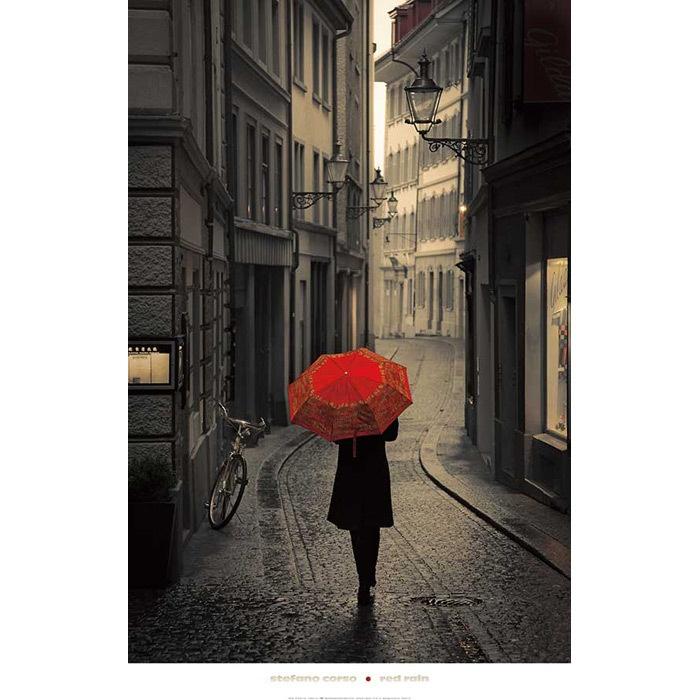red rain: Stefano Corso, Walks, Rainy Day, Colors, Lucern Switzerland, Red Rain, Red Umbrellas, Photo, Art Pieces