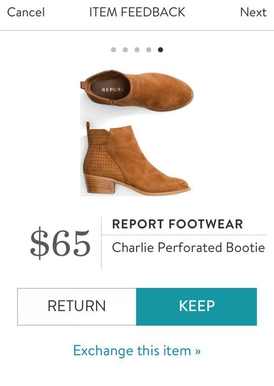 REPORT FOOTWEAR Charlie Perforated Bootie from Stitch Fix. https://www.stitchfix.com/referral/4292370