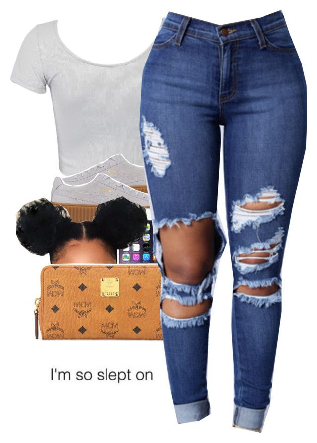 """""""Nov.8, 2016"""" by uniquee-beauty ❤ liked on Polyvore featuring WithChic, Puma and MCM"""