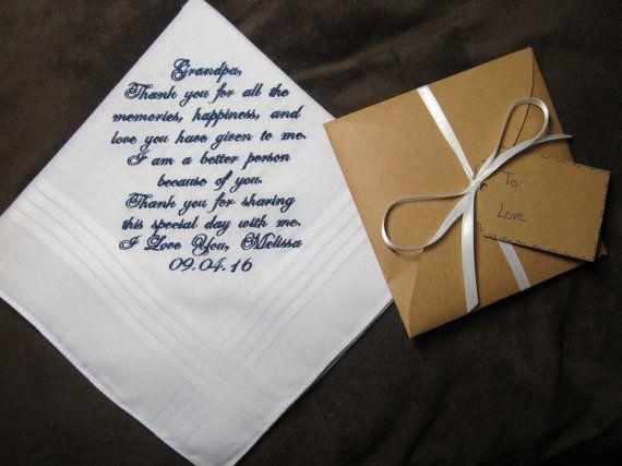 Write On Wedding Gift Envelope : the BridePersonalized Wedding Handkerchief With Free Gift Envelope ...