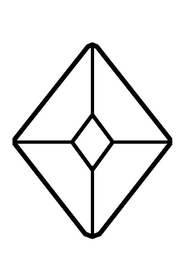 Diamond Shape Jewel Diamond Shape Coloring Pages Shape