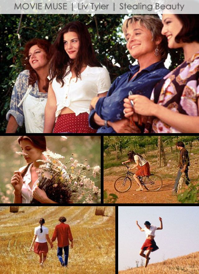 Liv Tyler's Style in Stealing Beauty  Love this film. One of my favorites by Bertolucci.