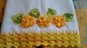 Resultado de imagem para panos de prato com apliques de joaninhas de croche
