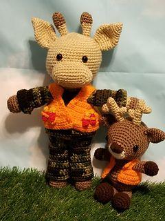 Ravelry: Hunter Outfit & Bubba Buck pattern by Kelli's Kreations