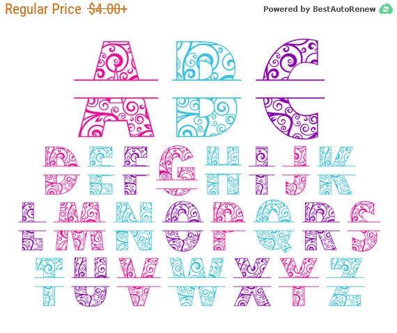 Cij Sale Yeti Monogram Decal, Personalized vinyl decal, Alphabet waterproof sticker, varsity, swirl, split alphabet vinyl decals, oracal ...