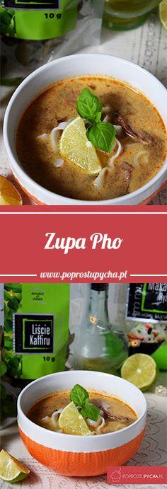 Zupa Pho z wołowiną! :) To taki azjatycki rosół, gotowany na pieczonych kościach lub ogonach, grubym płacie mięsa wołowego lub wieprzowego z dość niecodziennymi jak dla nas przyprawami :) Koniecznie wypróbujcie <3 #poprostupycha #zupa #pho #azja