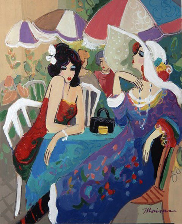 dejeuner by Isaac Maimon - Paintings by Isaac Maimon