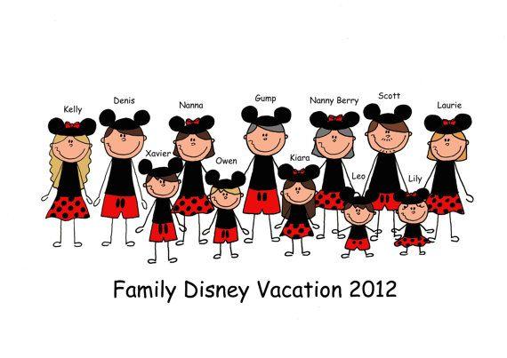 Disney Family Personalized Shirt ALL SIZES Custom by JeniMadeIt, $17.00