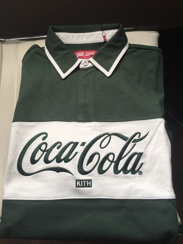 521cd19355d KITH X COCA COLA CLASSIC RUGBY GREEN SIZE LARGE KITH #fashion #clothing  #shoes #accessories #mensclothing #shirts #ad (ebay link)