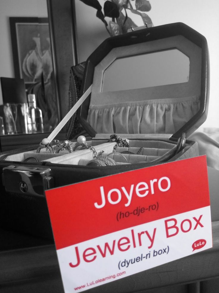 Joyero en Inglés = Jewelry Box in Spanish