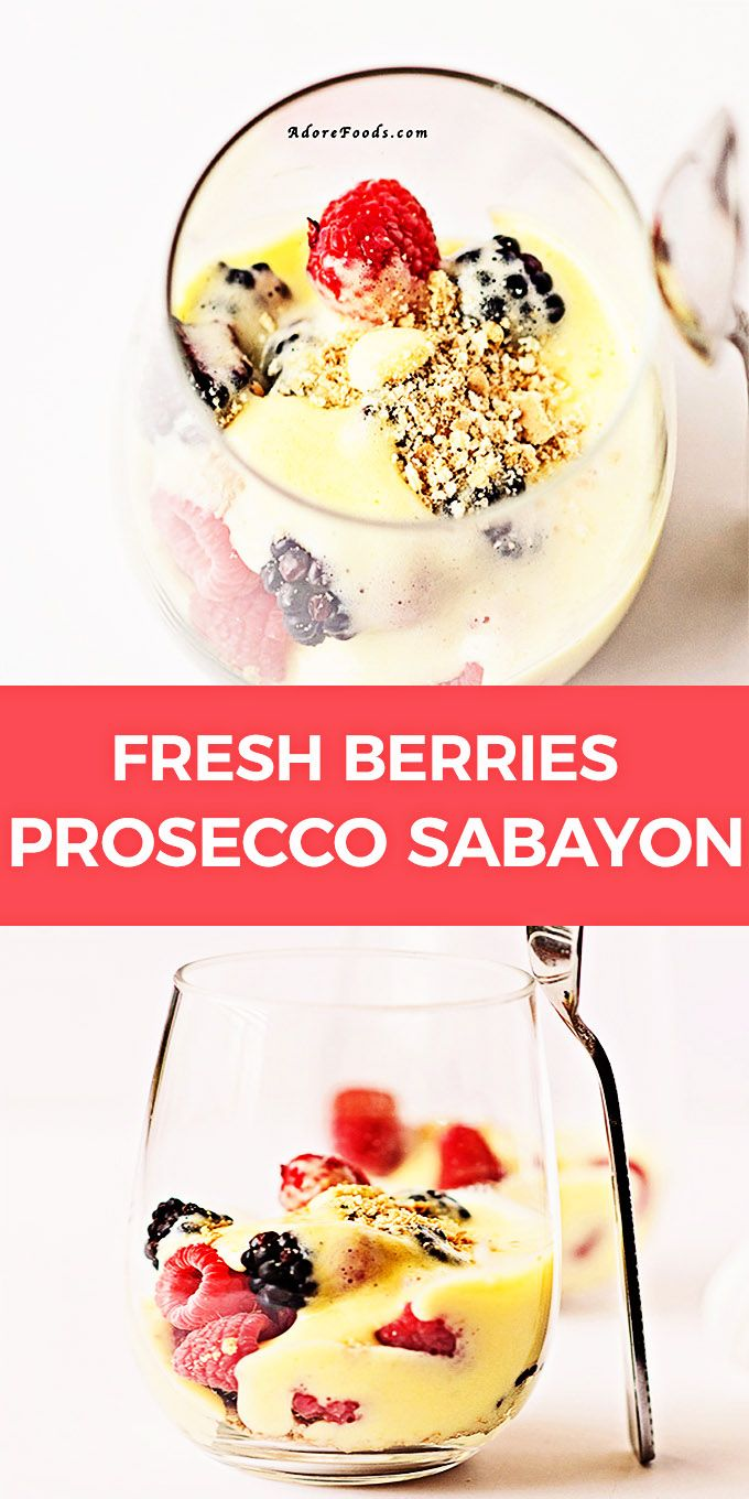Fresh Berries With Prosecco Sabayon Easy Summer Dessert Recipe Easy Summer Desserts Summer Desserts Fresh Berries