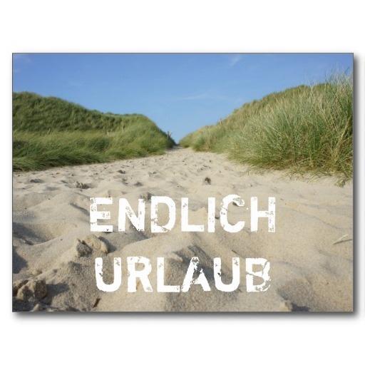 ENDLICH URLAUB Weg zum Strand durch Strandhafer auf Sylt Postkarte