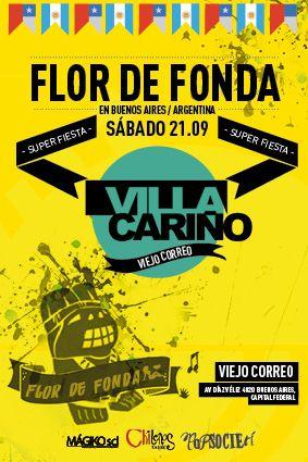 Chilenos en Buenos Aires presenta Flor de Fonda con Villa Cariño. 21 de septiembre, El Viejo Correo.