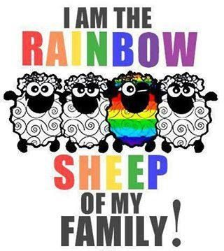 Proud to be different!! #Pride #Lesbian #Love #bisexual #girlongirl #sheep #femme #teamlesbian #teambisexual #different