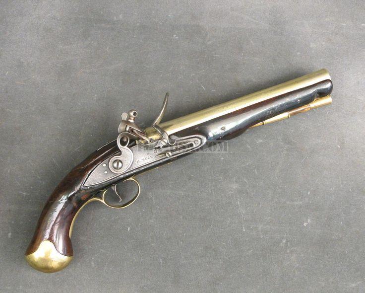 Brass Barrel Flintlock Pistol