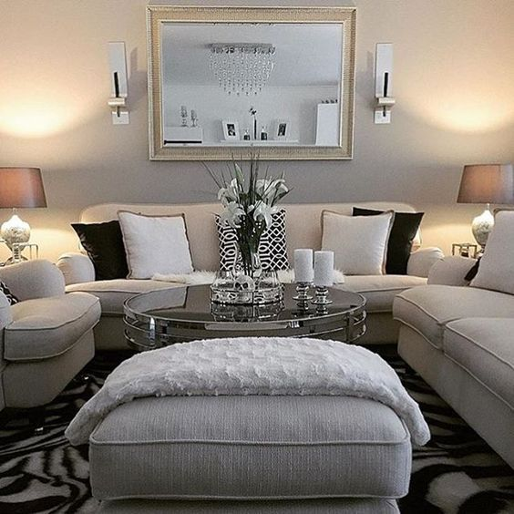Sectional Very Light With Ottoman Mirror Find This Pin And More On The Living Room By Tlilly42 Above Couch
