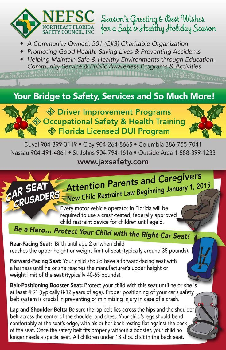 "Northeast Florida Safety Council and Traffic Safety Team are working together to promote Celebrate Safely, Designate a Driver campaign and the new Child Restraint Law. Thank you NEFSC for partnering with this year's ""Recipes for the Road"" book. Get a complete copy online: www.trafficsafety..."
