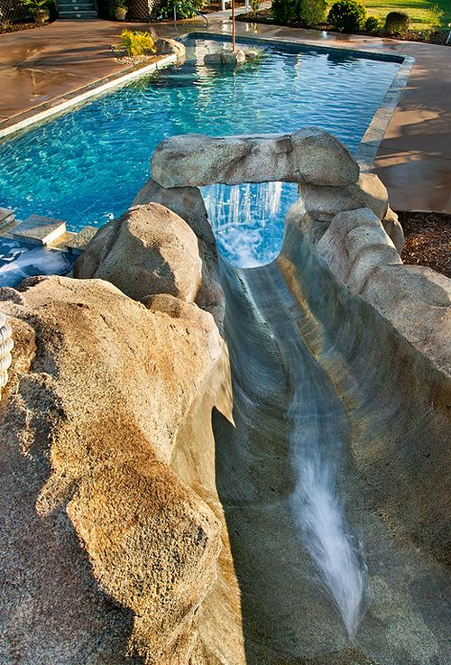 cool pools with waterslides 69 best pools and water slides images on pinterest water parks - Cool Pools With Slides
