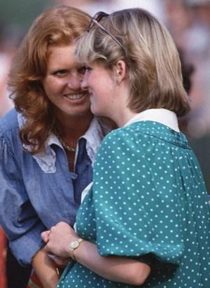 Princess Diana & Fergie were such good friends.  Here they're at a Polo match while the Princess is pregnant with William , 1982.