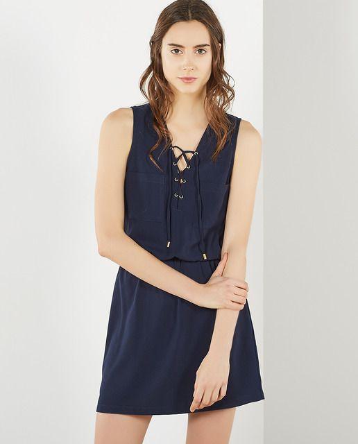 Vestido camisero de mujer Sfera en azul marino