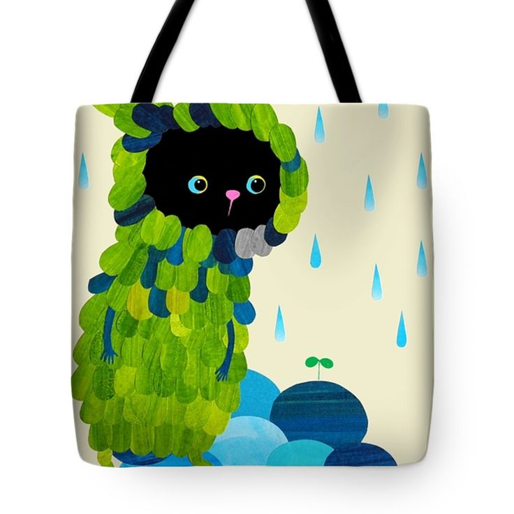 "Private Green Tote Bag 18"" x 18"" by Anne Vasko"